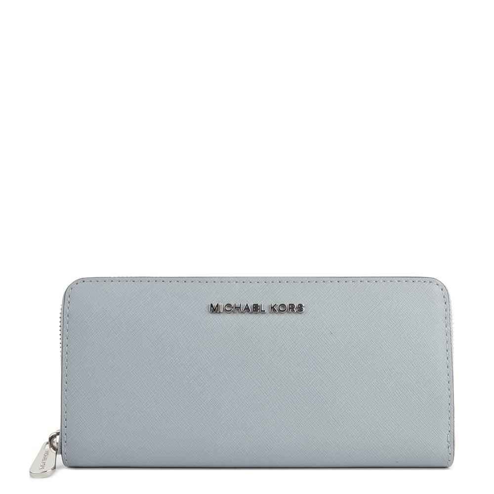 4a309d235be5 MICHAEL by Michael Kors Jet Set Travel Dusty Blue Continental Wallet