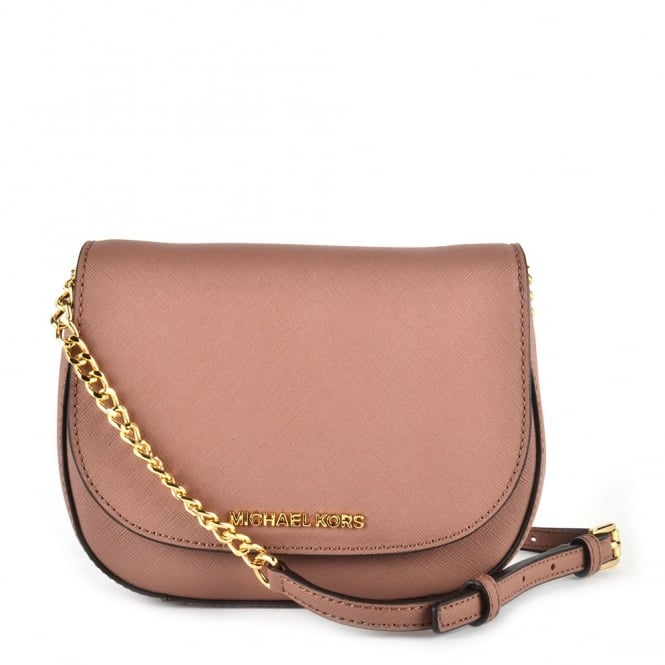 Michael By Kors Jet Set Travel Dusty Rose Small Crossbody Bag