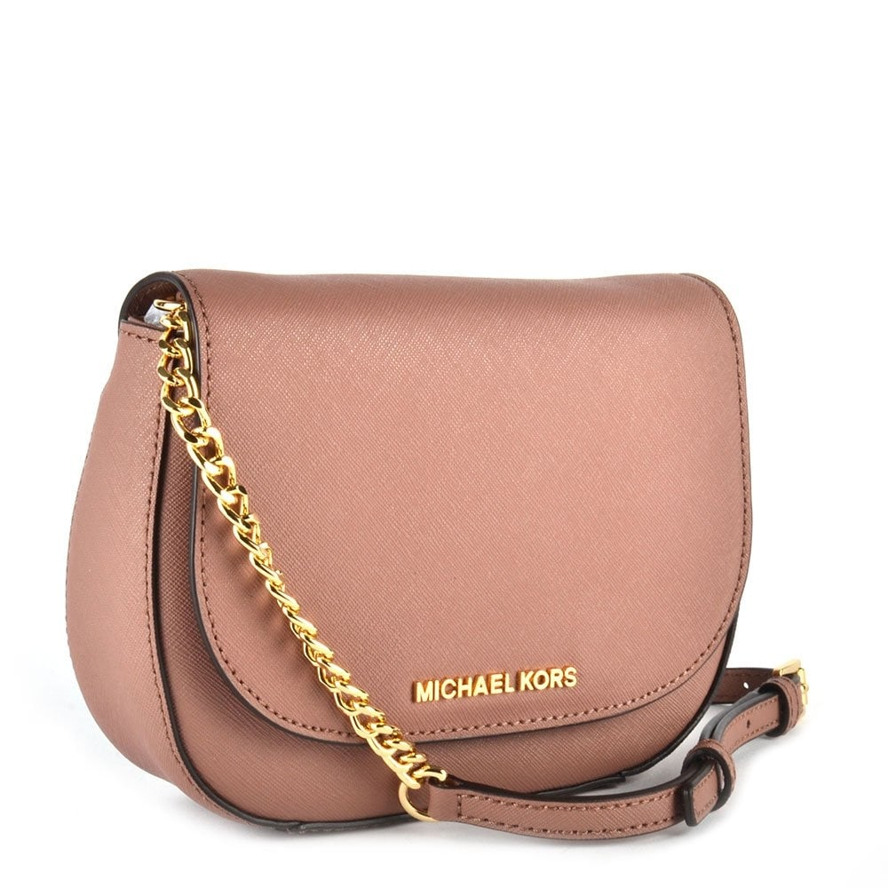 michael kors jet set crossbody in dusty rose usa mkfactory. Black Bedroom Furniture Sets. Home Design Ideas