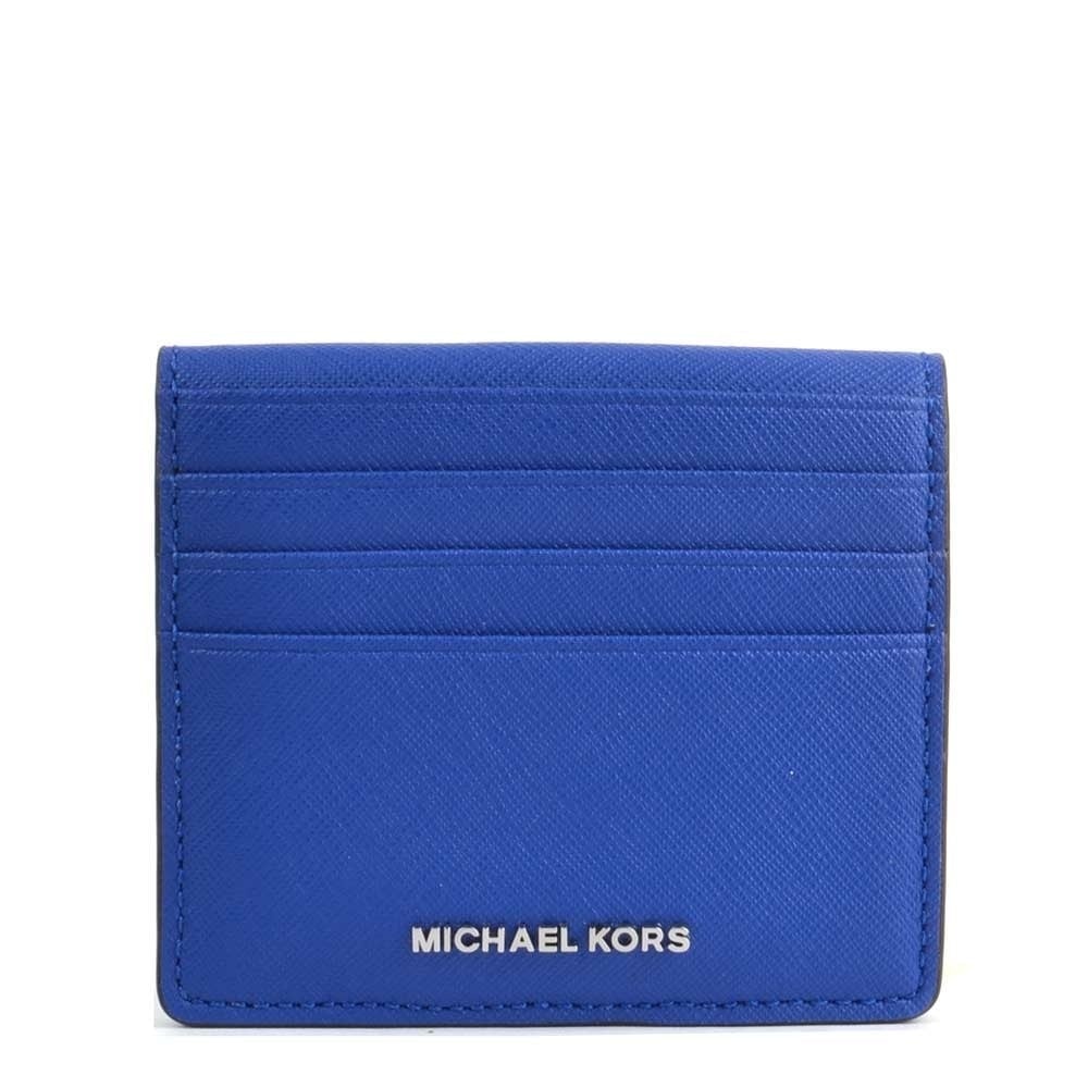 39ae7b54cf7f MICHAEL by Michael Kors Jet Set Travel Electric Blue Billfold Card Case  Wallet
