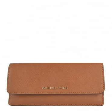 Jet Set Travel Luggage 'Tan' Flat Wallet