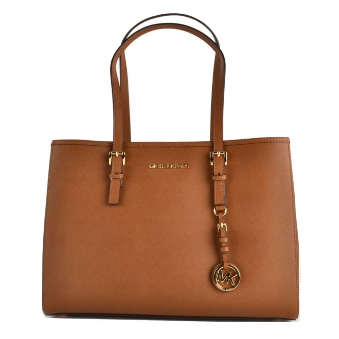 MICHAEL by Michael Kors Jet Set Travel Luggage 'Tan' Saffiano Leather Tote