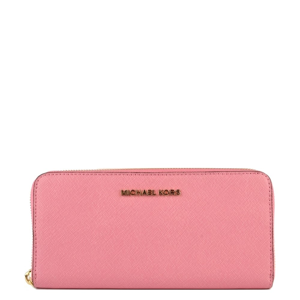 86d716237054 MICHAEL by Michael Kors Jet Set Travel Misty Rose 'Pink' Continental Wallet