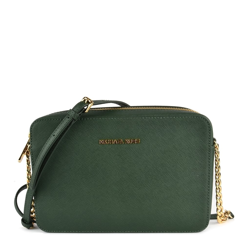 Michael Kors Crossbody Laukut : Michael kors jet set travel moss large crossbody