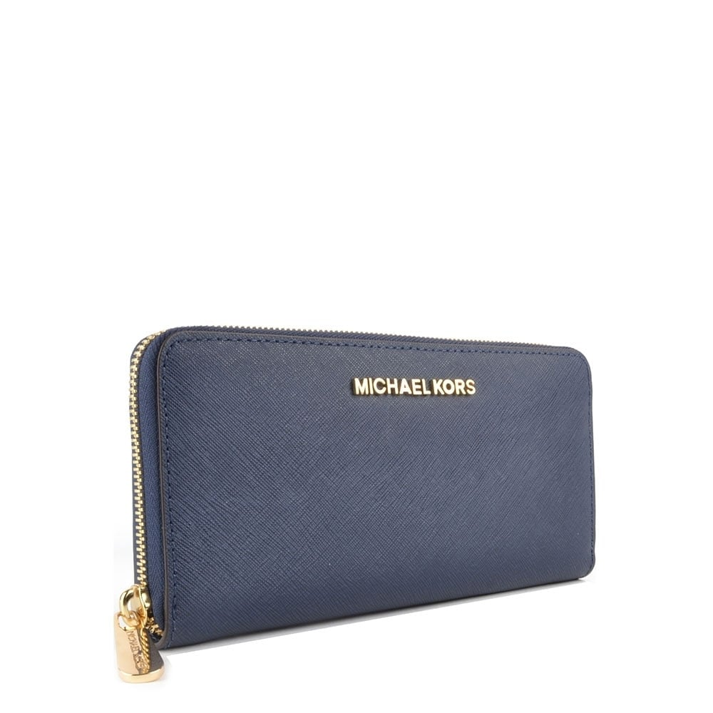 e7b113d692f3 MICHAEL MICHAEL KORS Jet Set Travel Navy Continental Wallet