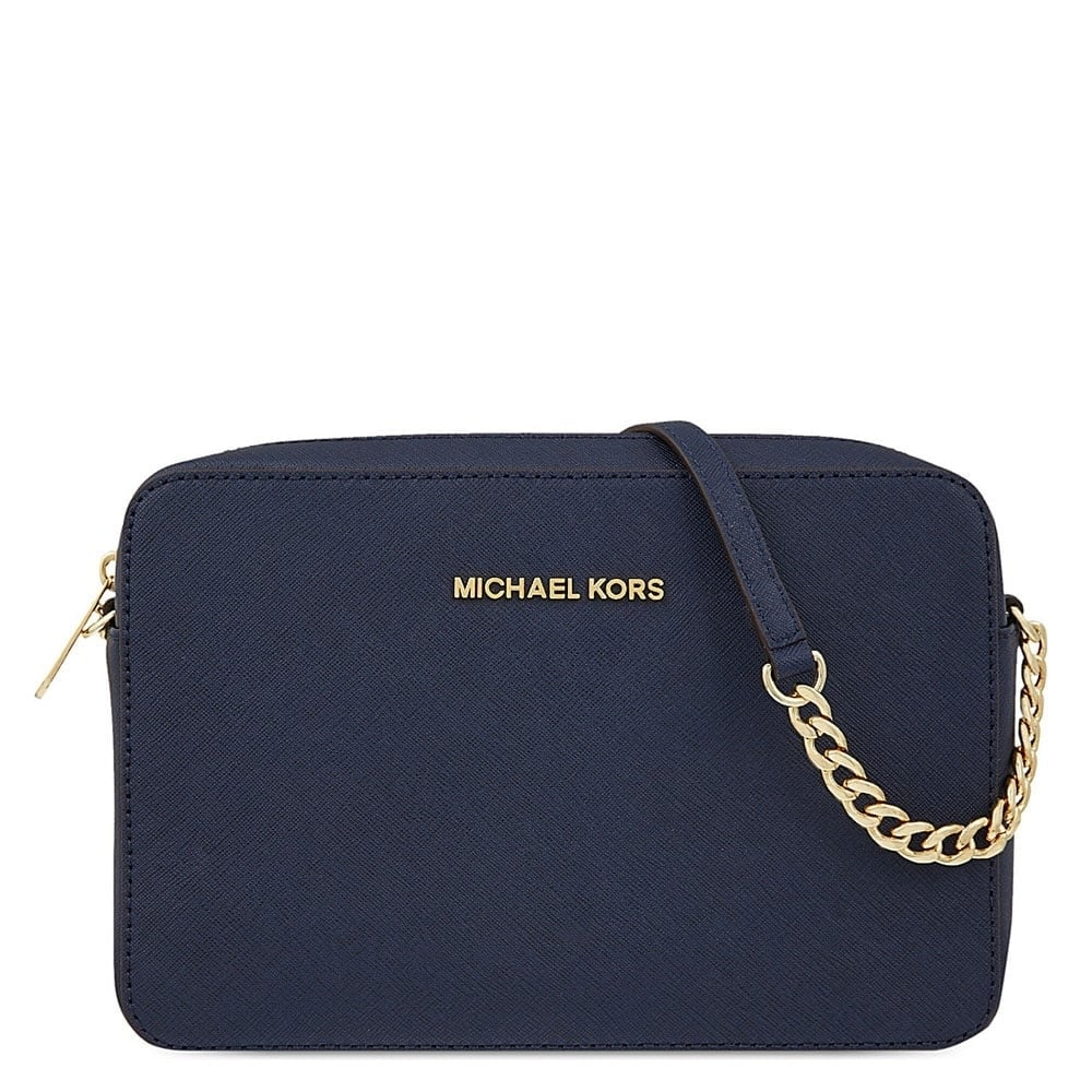 6b143bfc993ad7 MICHAEL by Michael Kors Jet Set Travel Navy Large Crossbody