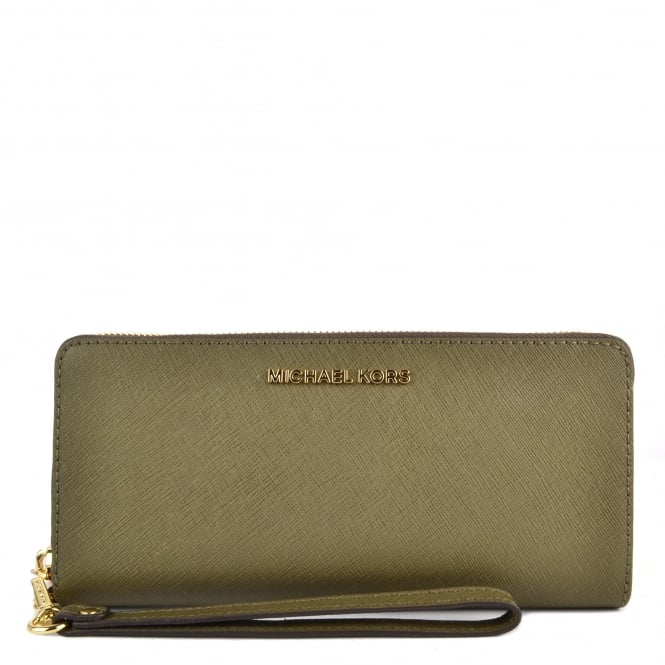 MICHAEL by Michael Kors Jet Set Travel Olive Continental Wallet