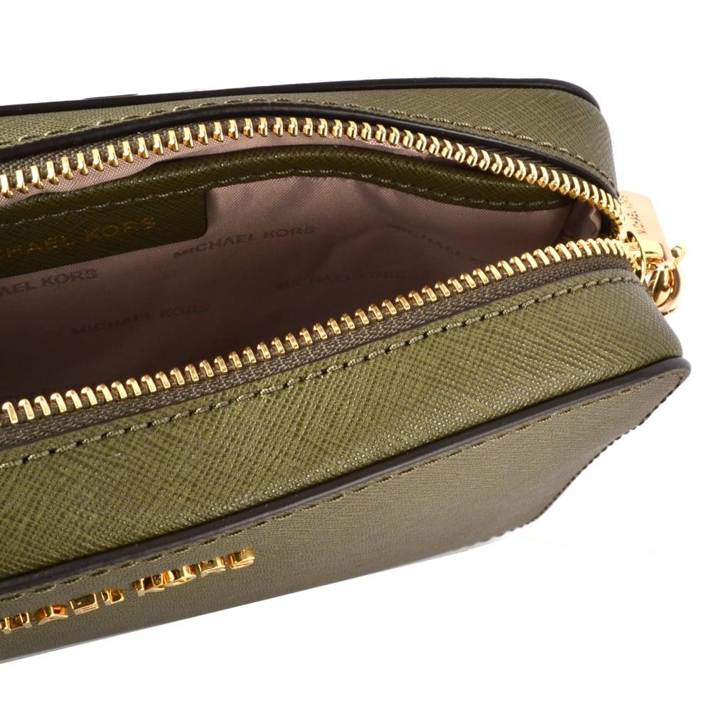 d175d837d22d MICHAEL MICHAEL KORS Jet Set Travel Olive Crossbody Bag