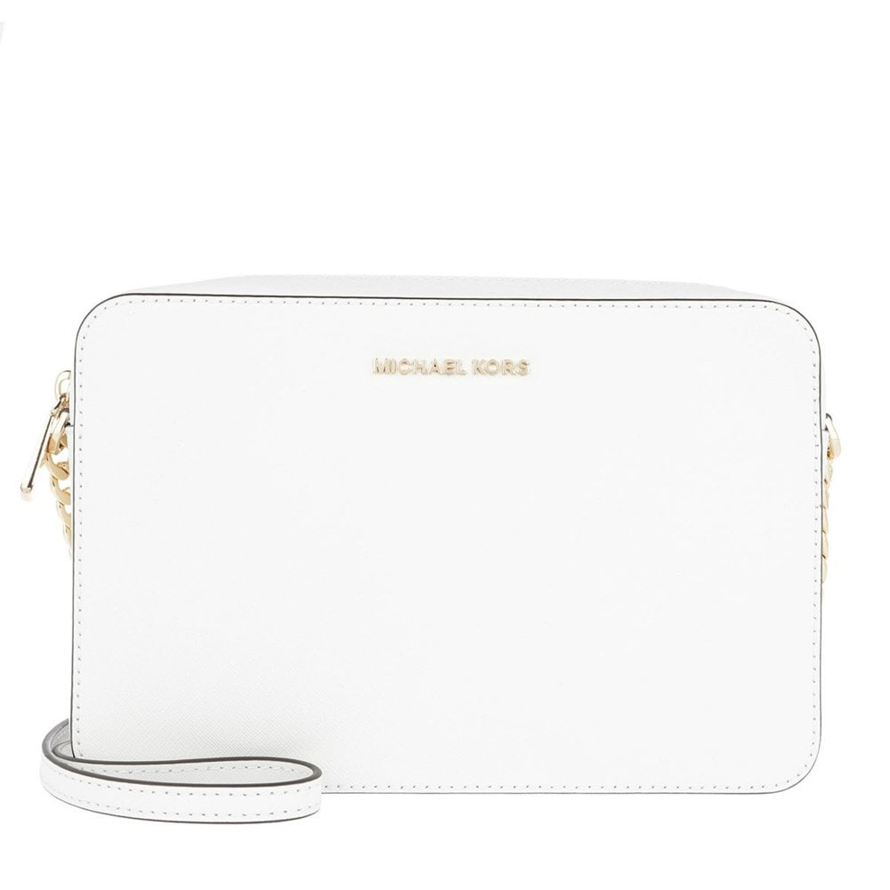6dcf26f64625b1 MICHAEL by Michael Kors Jet Set Travel Optic White Large Crossbody