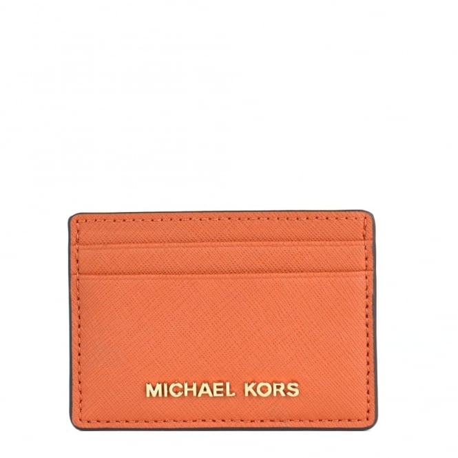 MICHAEL by Michael Kors Jet Set Travel Orange Card Holder