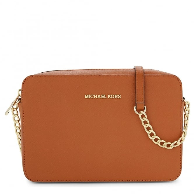 MICHAEL by Michael Kors Jet Set Travel Orange Large Crossbody