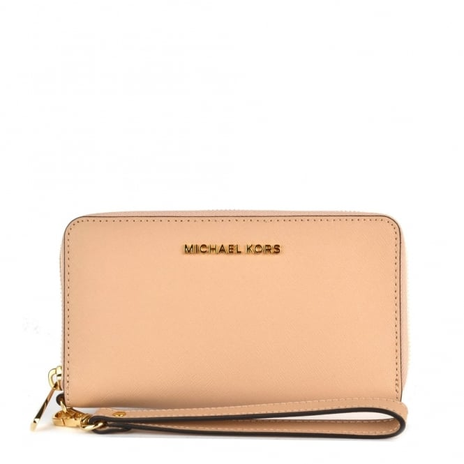 MICHAEL by Michael Kors Jet Set Travel Oyster Multifunction Phone Case