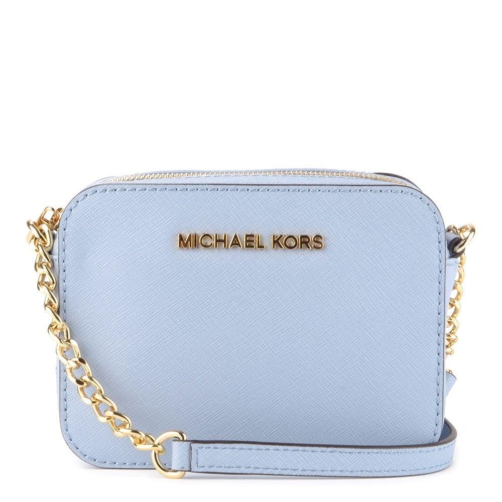 4f8acae88 MICHAEL by Michael Kors Jet Set Travel Pale Blue Crossbody - Women ...