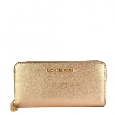 Jet Set Travel Pale Gold Continental Wallet