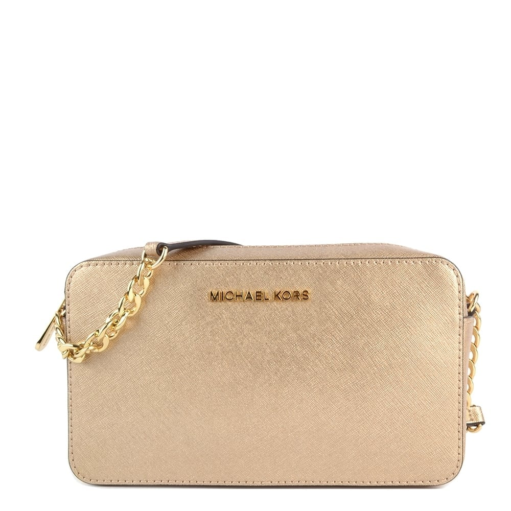 c810882827c782 MICHAEL by Michael Kors Jet Set Travel Pale Gold Crossbody Bag