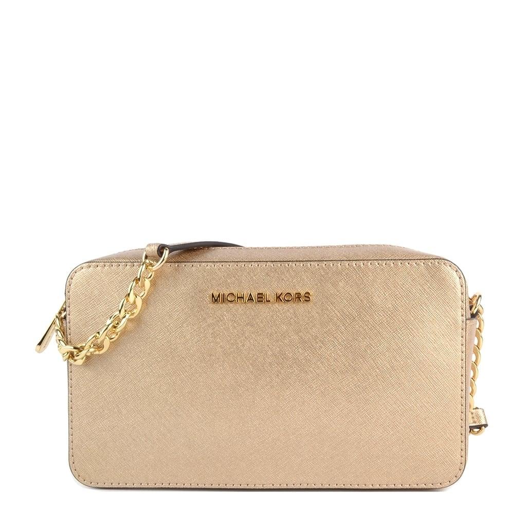 Michael Michael Kors Jet Set Travel Pale Gold Crossbody Bag