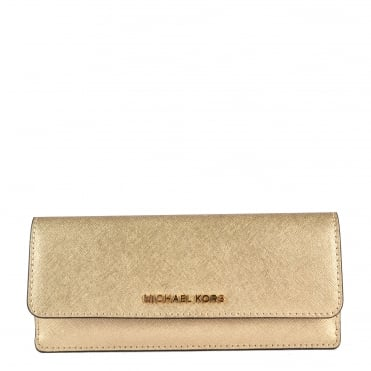 Jet Set Travel Pale Gold Flat Wallet