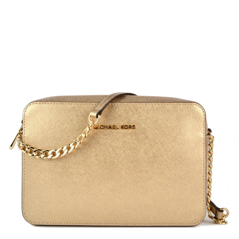 76312366c4f8 MICHAEL MICHAEL KORS Jet Set Travel Pale Gold Large Crossbody