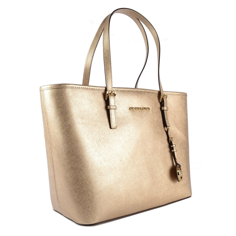 9384b4406f05 Jet Set Travel Pale Gold Top Zip Tote