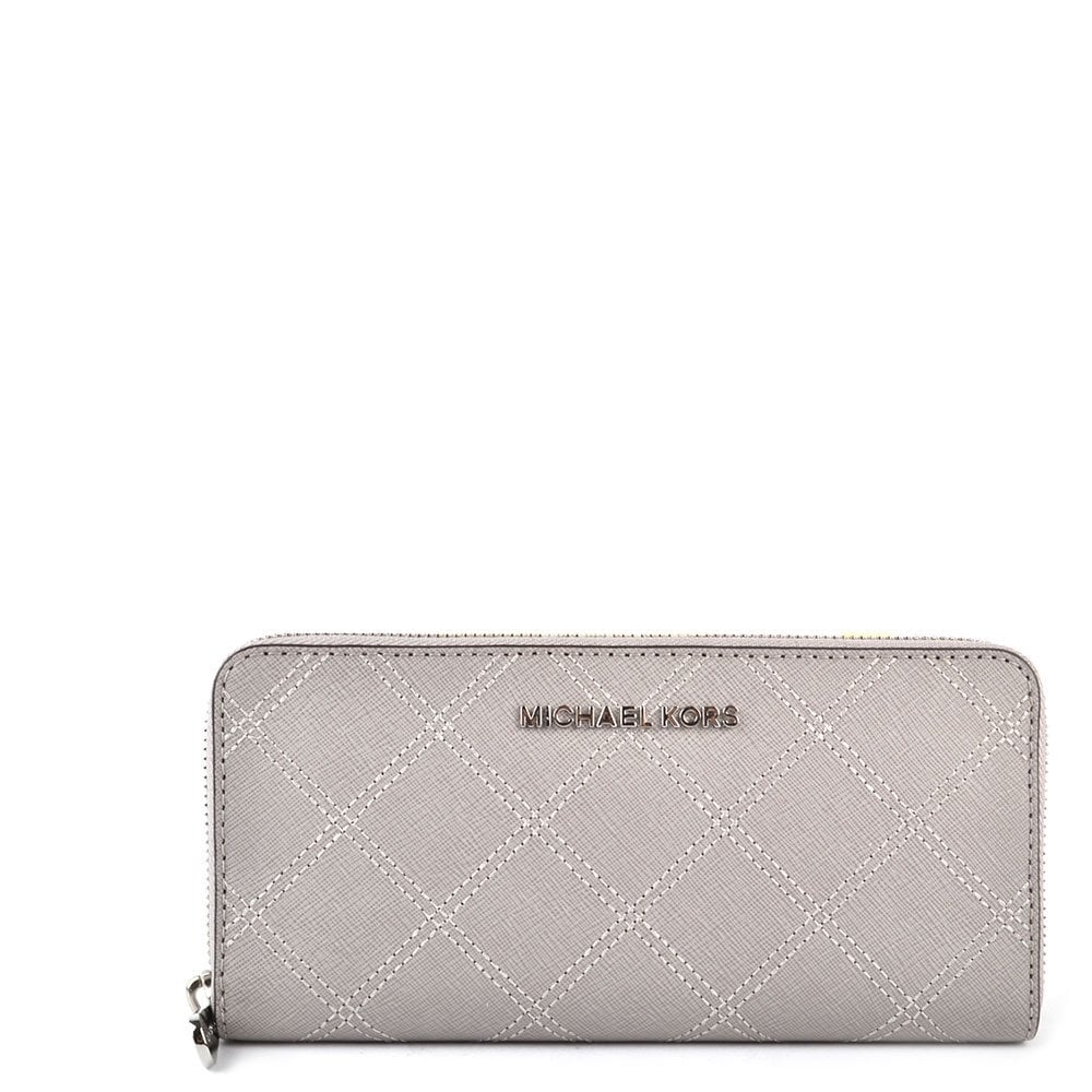 MICHAEL by Michael Kors Jet Set Travel Pearl Grey Continental Wallet ... 53fb3c1f9