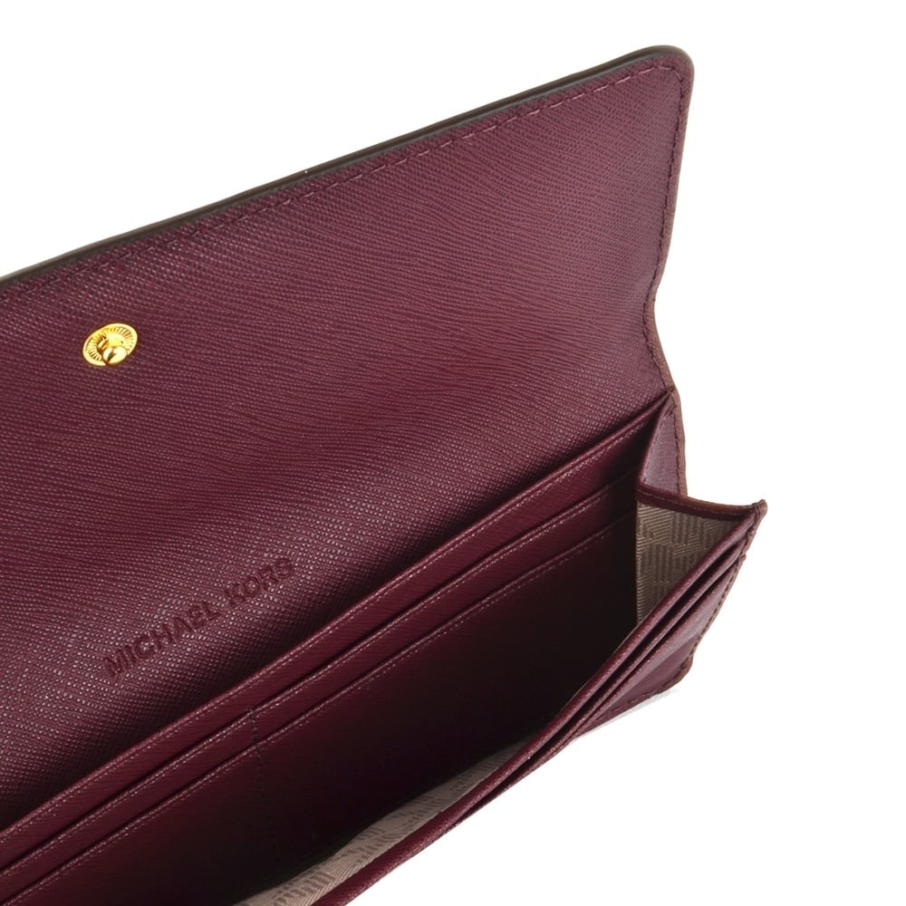 ee2d4b8bd187d5 MICHAEL MICHAEL KORS Jet Set Travel Plum 'Purple' Flat Wallet