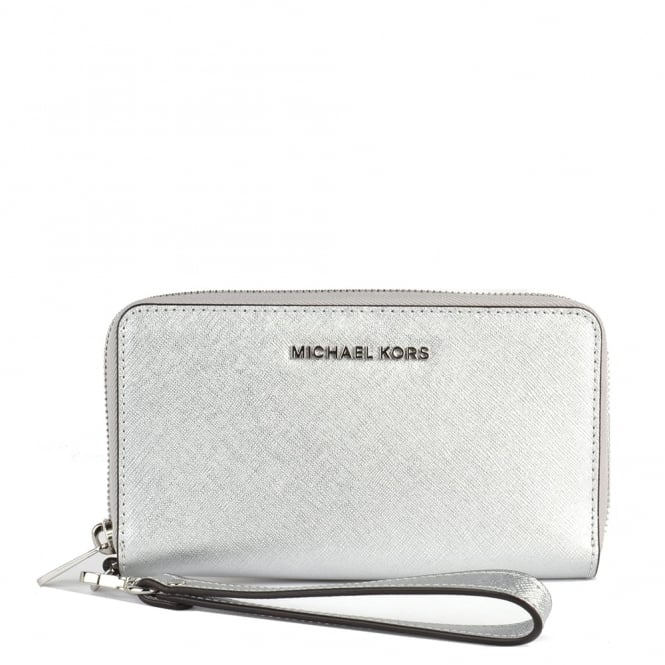 MICHAEL by Michael Kors Jet Set Travel Silver Multifunctional Phone Case