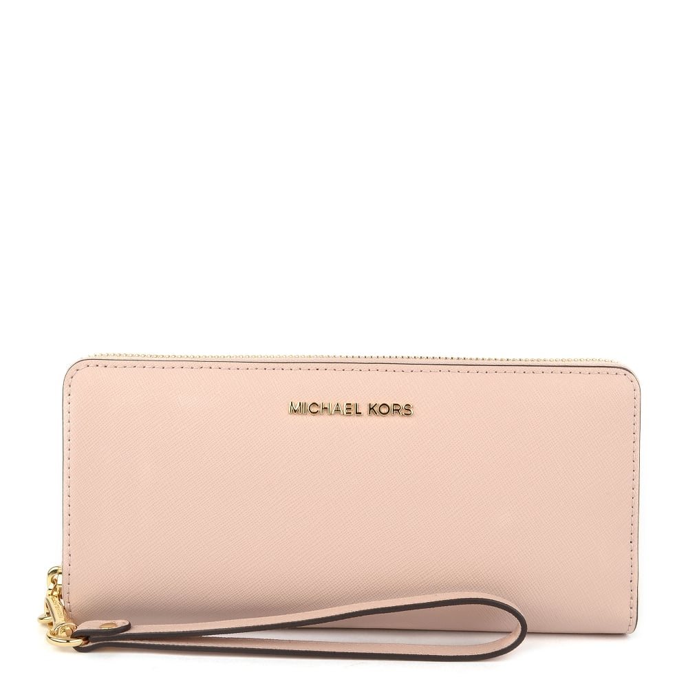 f3caef1d6296 MICHAEL MICHAEL KORS Jet Set Travel Soft Pink Continental Wallet