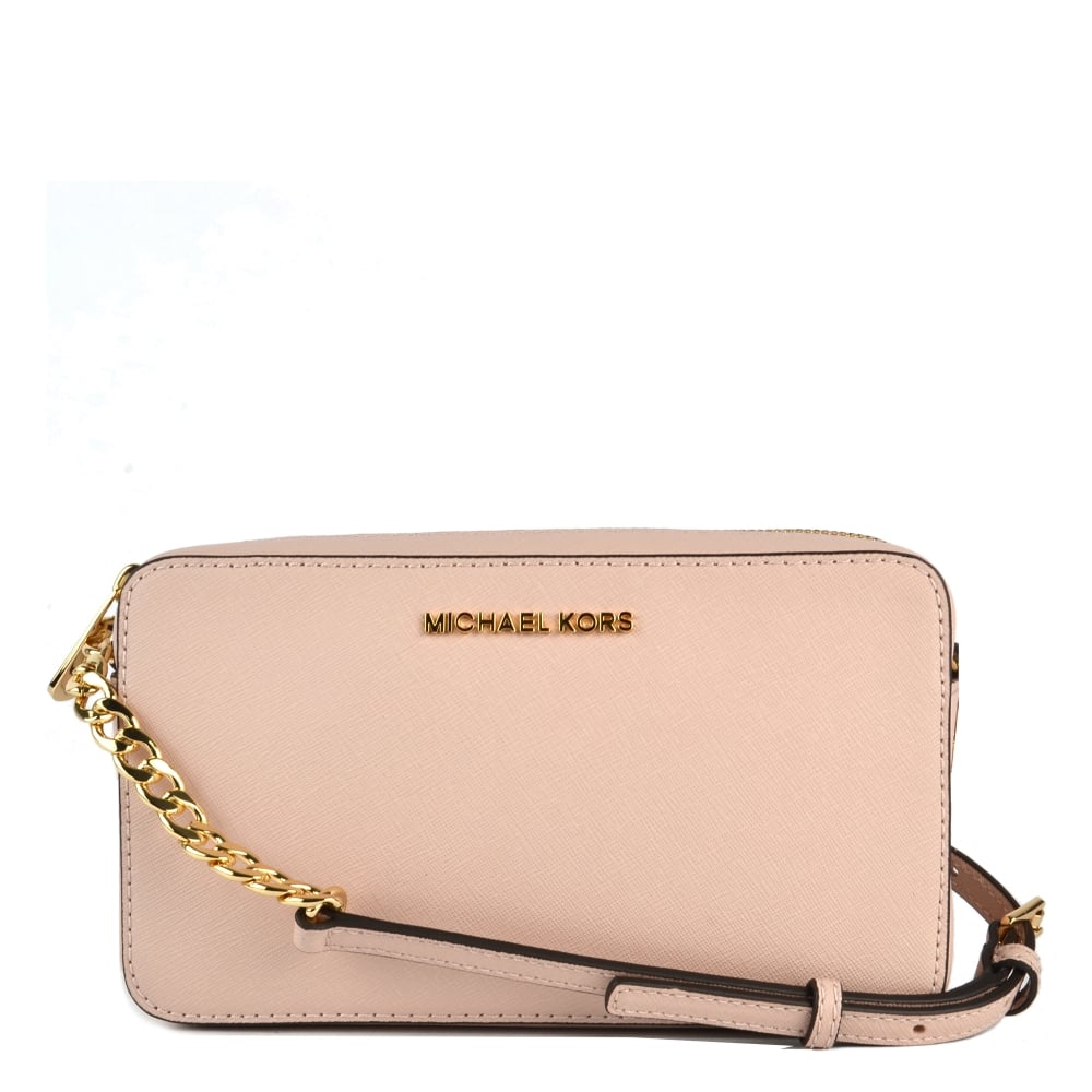 fbb2a7db97be MICHAEL by Michael Kors Jet Set Travel Soft Pink Crossbody Bag