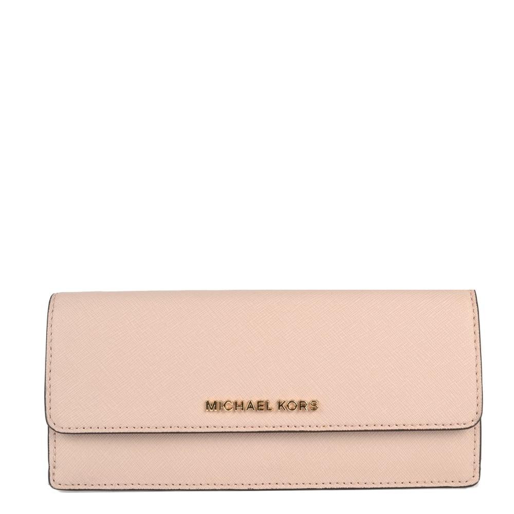 6fc0181b67e7 MICHAEL by Michael Kors Jet Set Travel Soft Pink Flat Wallet