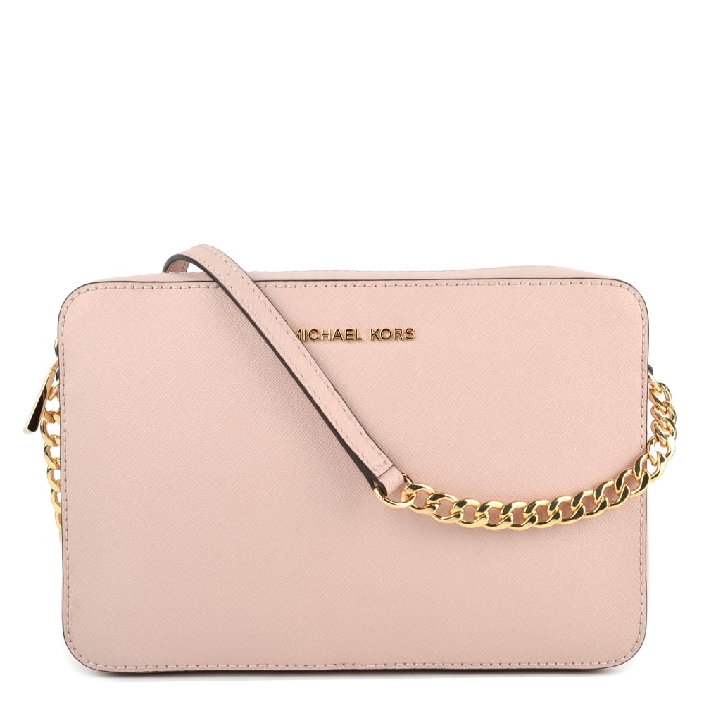 07ed021b7546 MICHAEL by Michael Kors Soft Pink Saffiano Leather Large Crossbody