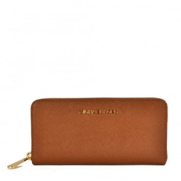 Jet Set Travel Tan Continental Wallet
