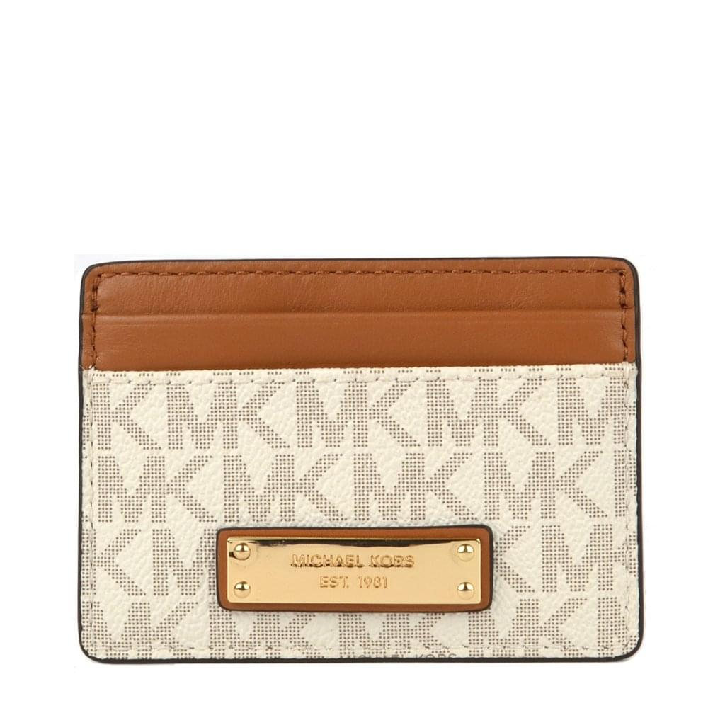 9d6ab10024a2 MICHAEL by Michael Kors Jet Set Vanilla Logo Card Holder