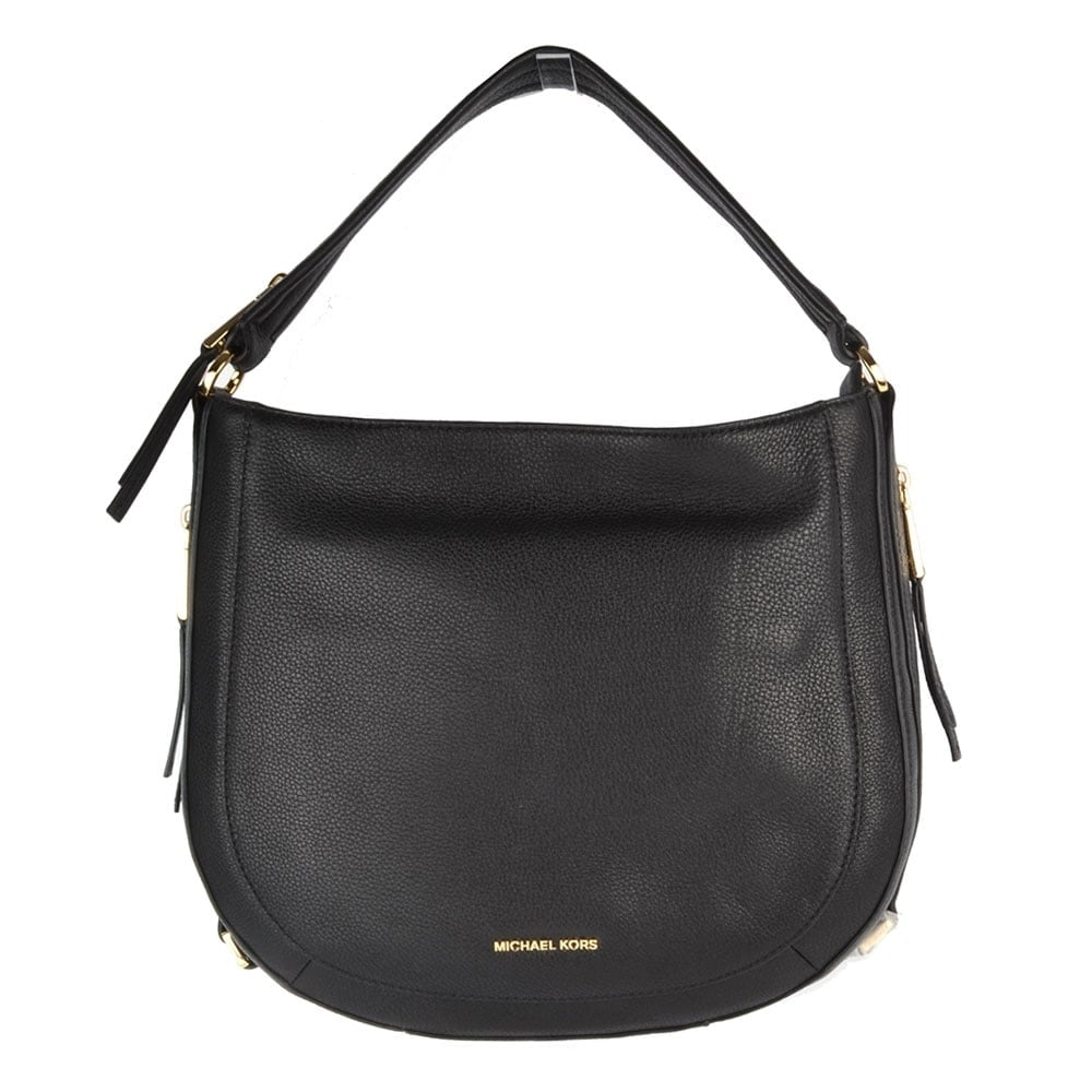 e9ff8b77b2fbd6 MICHAEL by Michael Kors Julia Black Medium Shoulder Bag