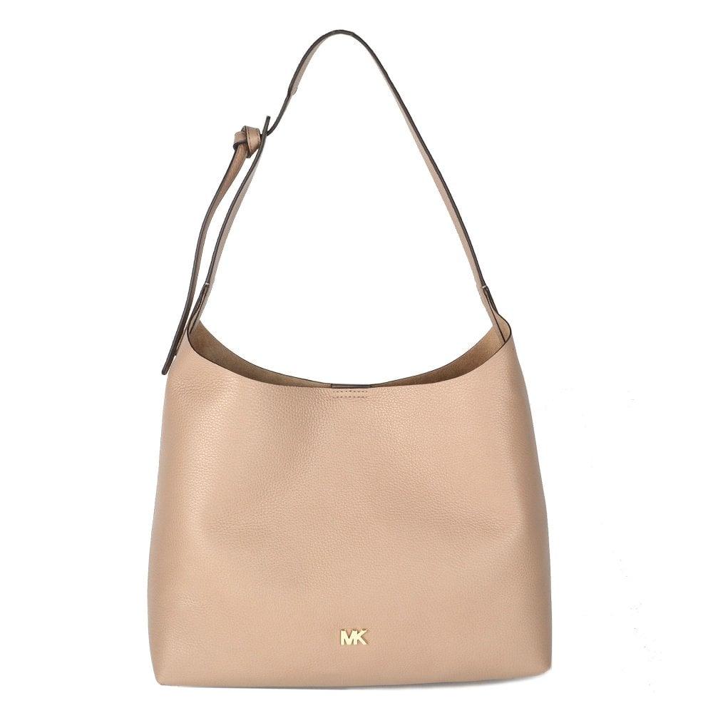 1118030ec1 MICHAEL by Michael Kors Junie Medium Truffle Leather Hobo Bag