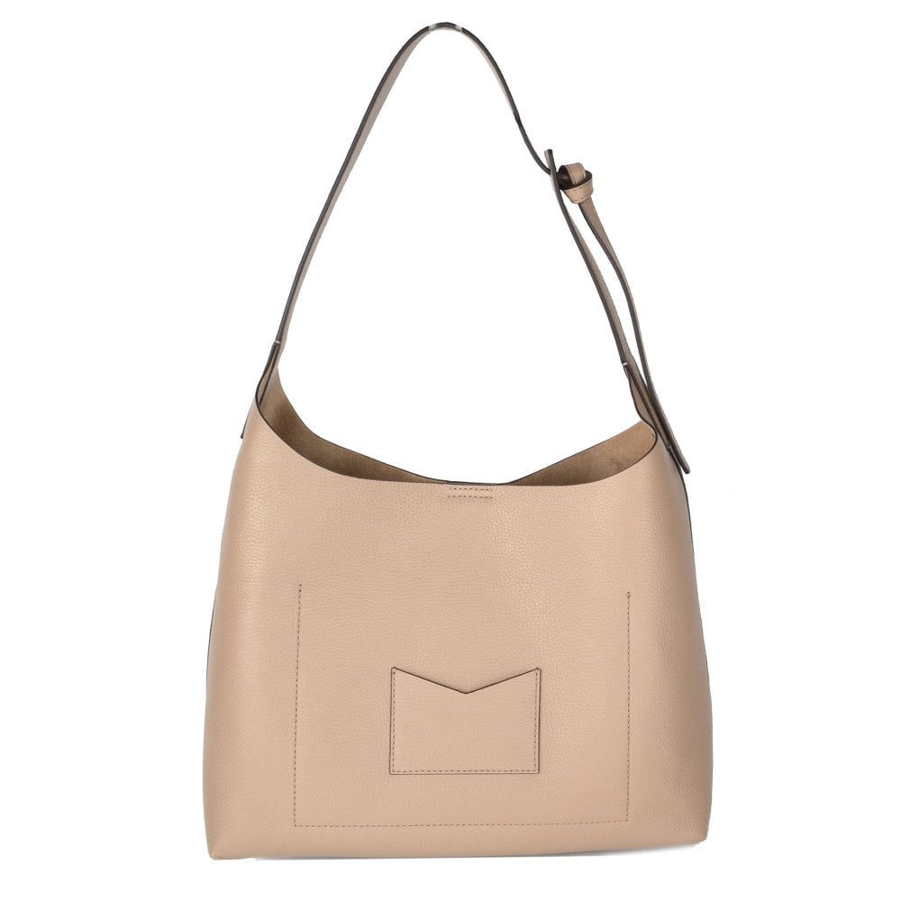 f08da27861f70 MICHAEL MICHAEL KORS Junie Medium Truffle Leather Hobo Bag