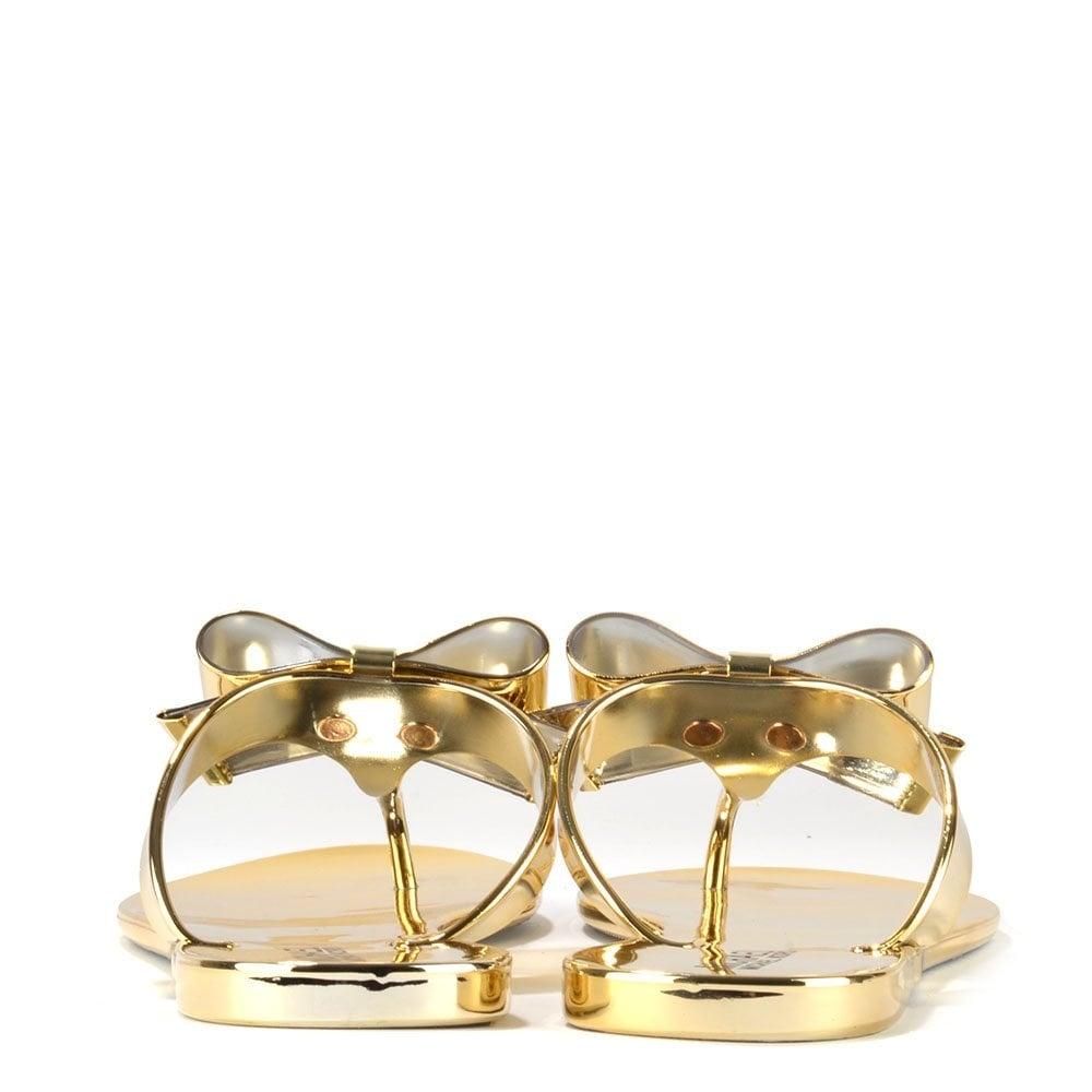5c09686d7d1 MICHAEL by Michael Kors Kayden Gold Thong Sandal - Women from Brand ...