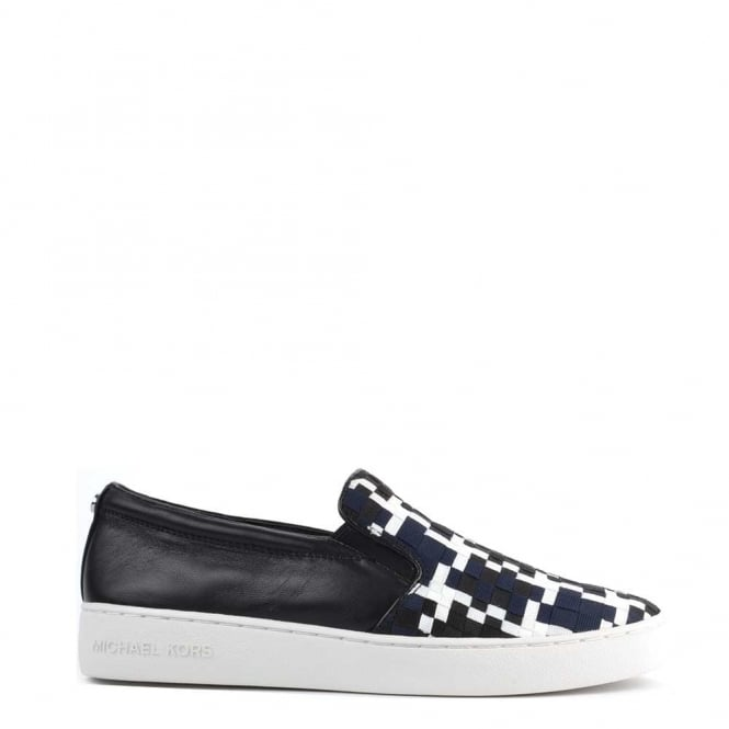 MICHAEL by Michael Kors Keaton Black and Navy Woven Slip On