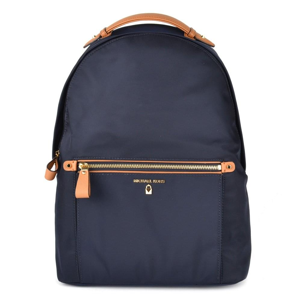 MICHAEL MICHAEL KORS Kelsey Admiral  Navy  Nylon Large Backpack deb0452f9107c