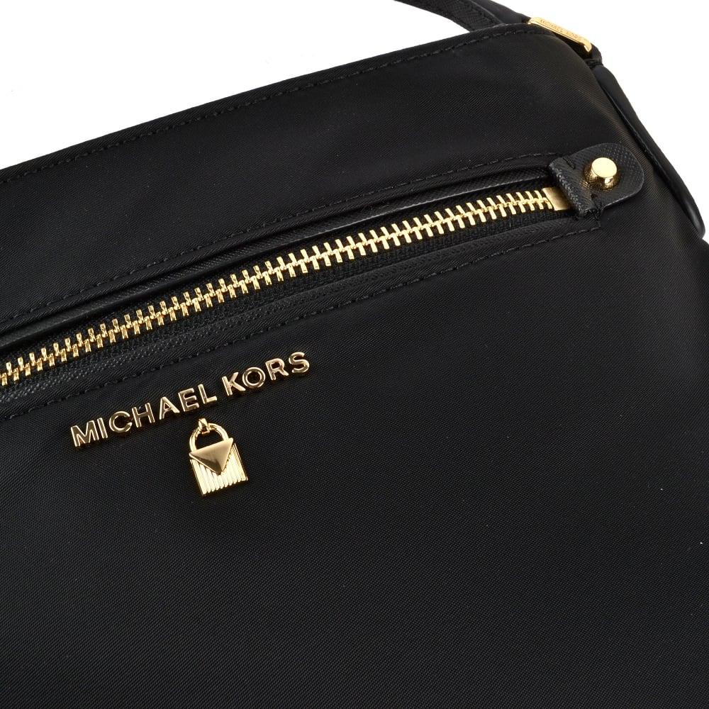 c45b719958c0 MICHAEL MICHAEL KORS Kelsey Black Nylon Large Crossbody Bag