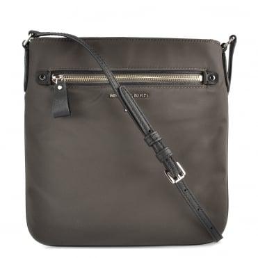 8095bd23ef6b MICHAEL MICHAEL KORS Kelsey Graphite Nylon Large Crossbody Bag