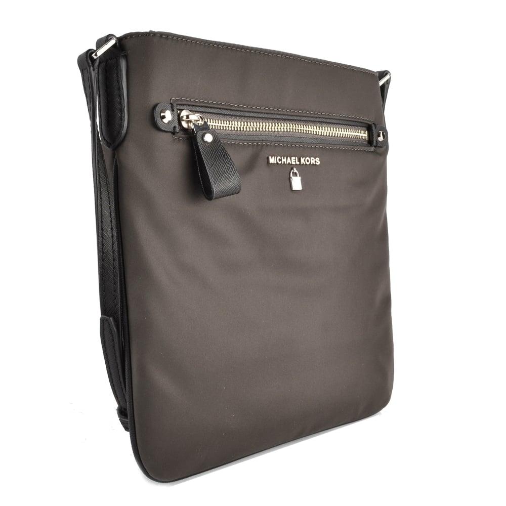 531d004eb53b9e MICHAEL MICHAEL KORS Kelsey Graphite Nylon Large Crossbody Bag