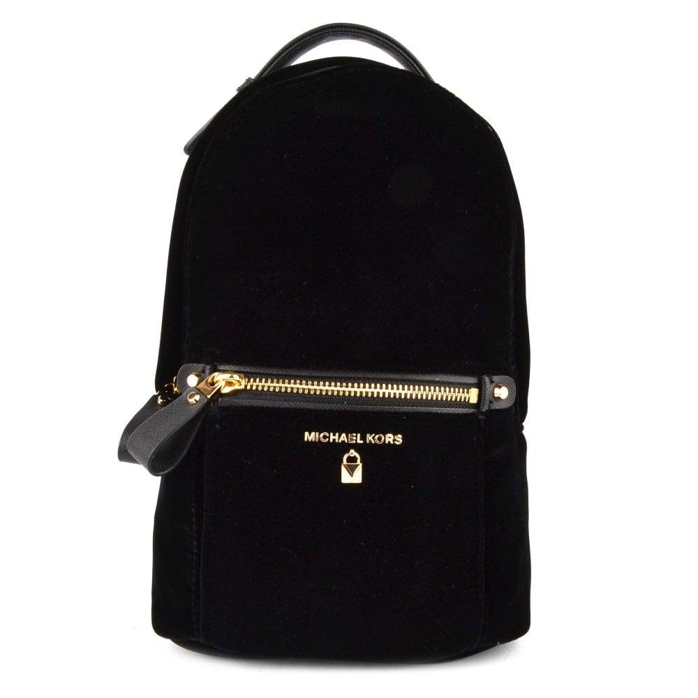 fa3fec9216fb23 Shop The Michael Michael Kors Kelsey Black Velvet Sling Pack Today