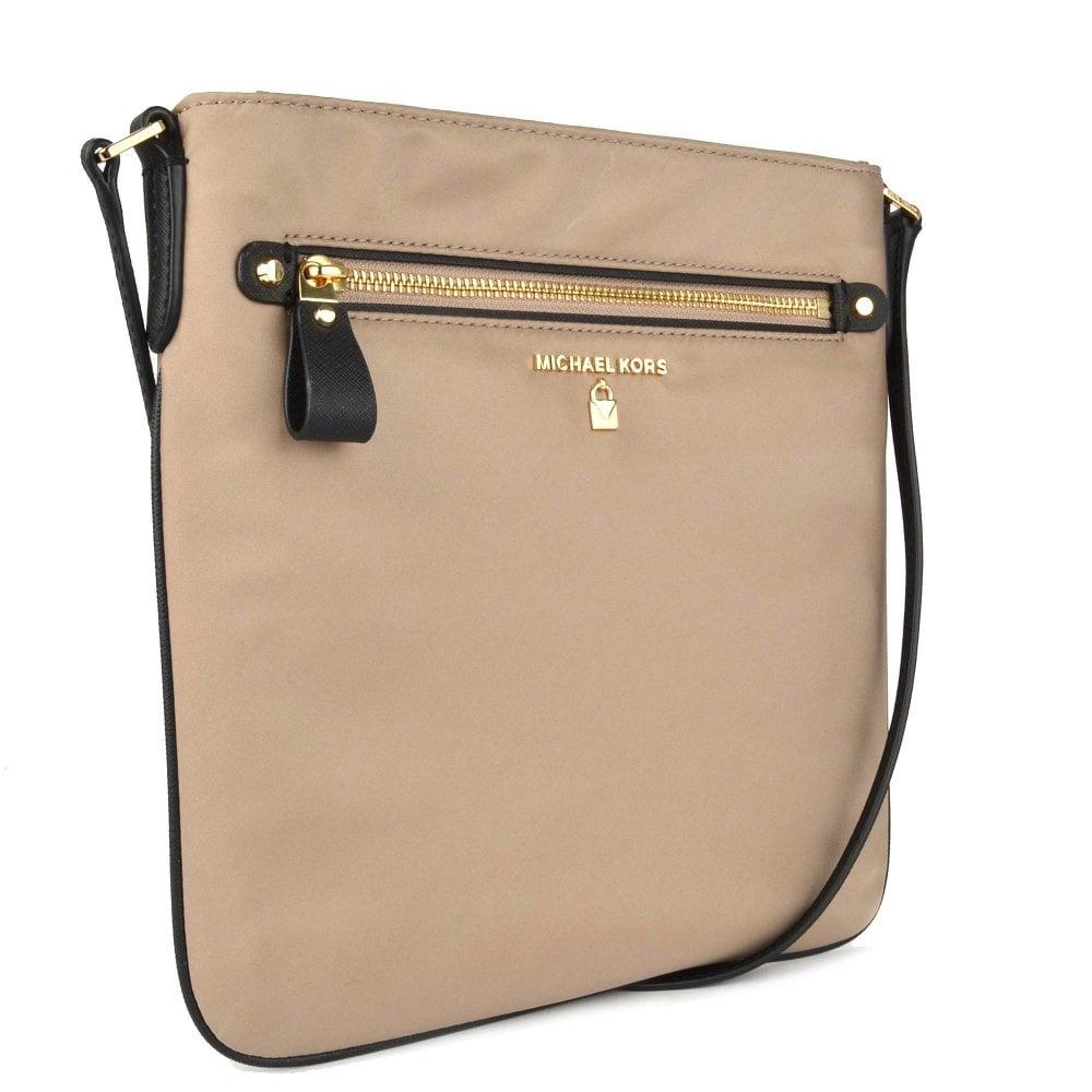 e7297020e40a MICHAEL MICHAEL KORS Kelsey Truffle Nylon Large Crossbody Bag