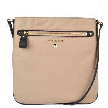 Kelsey Truffle Nylon Large Crossbody Bag