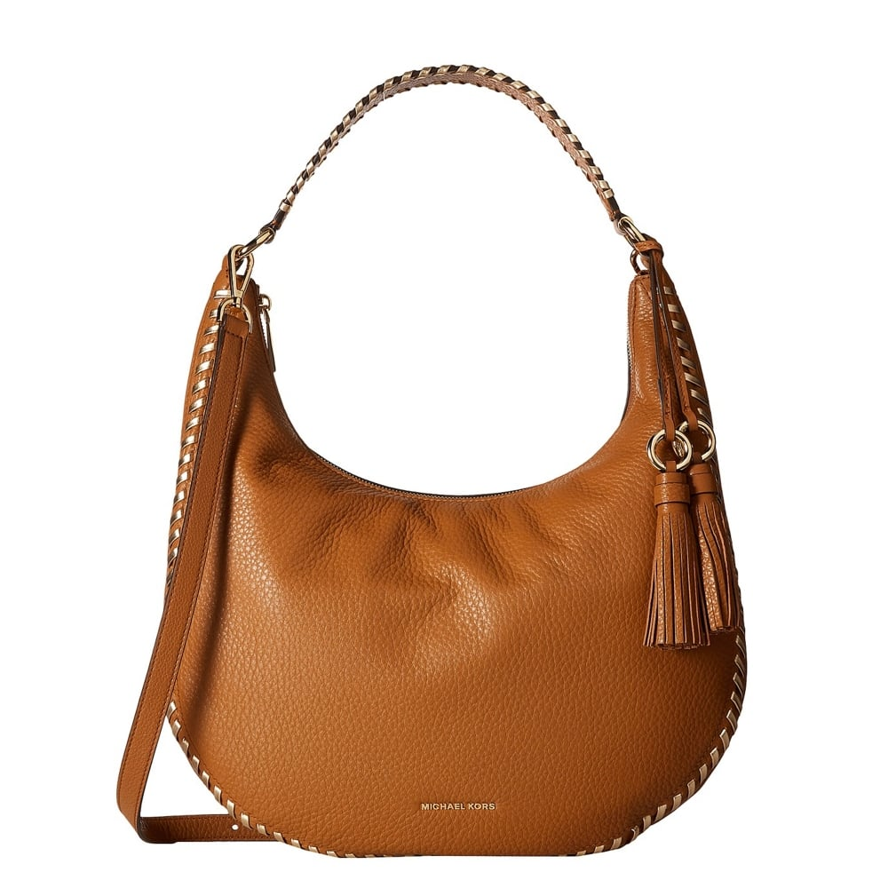 76d80d4e3ebd MICHAEL by Michael Kors Lauryn Acorn Leather Shoulder Bag