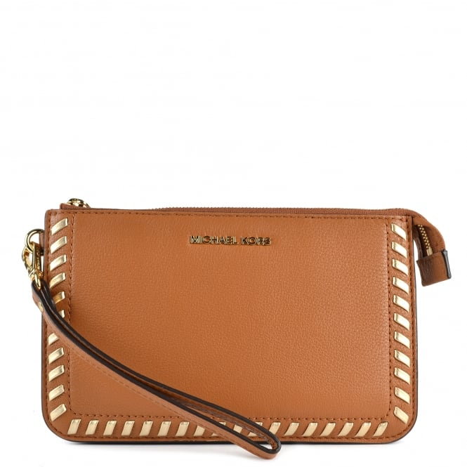 MICHAEL by Michael Kors Lauryn Acorn Leather Wristlet