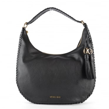 Lauryn Black Leather Shoulder Bag