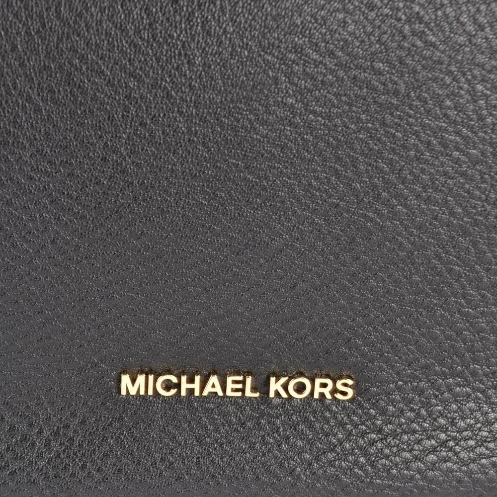 32b74c3157593 MICHAEL MICHAEL KORS Lauryn Black Leather Shoulder Bag