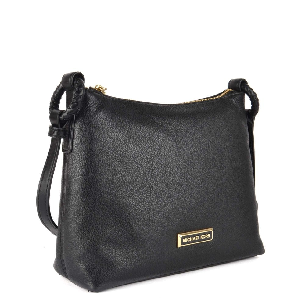 Lexington Black Pebbled Leather Crossbody Bag