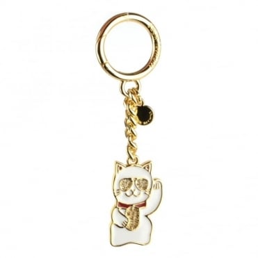 Lucky Charm Welcoming Cat Keyring Charm